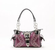 Women Rhinestone Bling Western Conceal And Carry Handbag