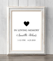 Memorial Print. In loving memory. All Prints BUY 2 GET 1 FREE!